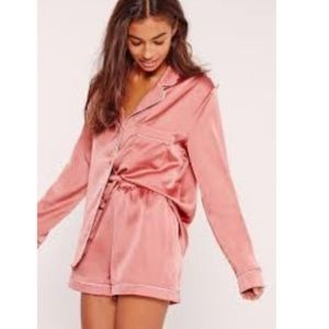 Victoria's Secret Pink Satin Button Summer PJs